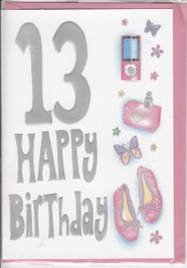 Birthday ages 13 to 17 english greeting cards in france bookmarktalkfo Gallery