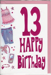 Birthday Ages 13 To 17