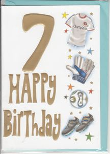 Birthday ages 7 to 12 english greeting cards in france 7th birthday boy m4hsunfo