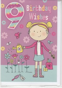 Birthday ages 7 to 12 english greeting cards in france 9th birthday girl bookmarktalkfo Images