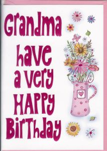 female relation cards  gran  nan  english cards in france, Birthday card