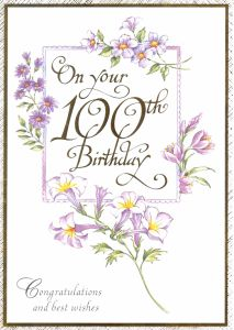 Birthday ages 18 to 100 english greeting cards in france 100th birthday bookmarktalkfo Images